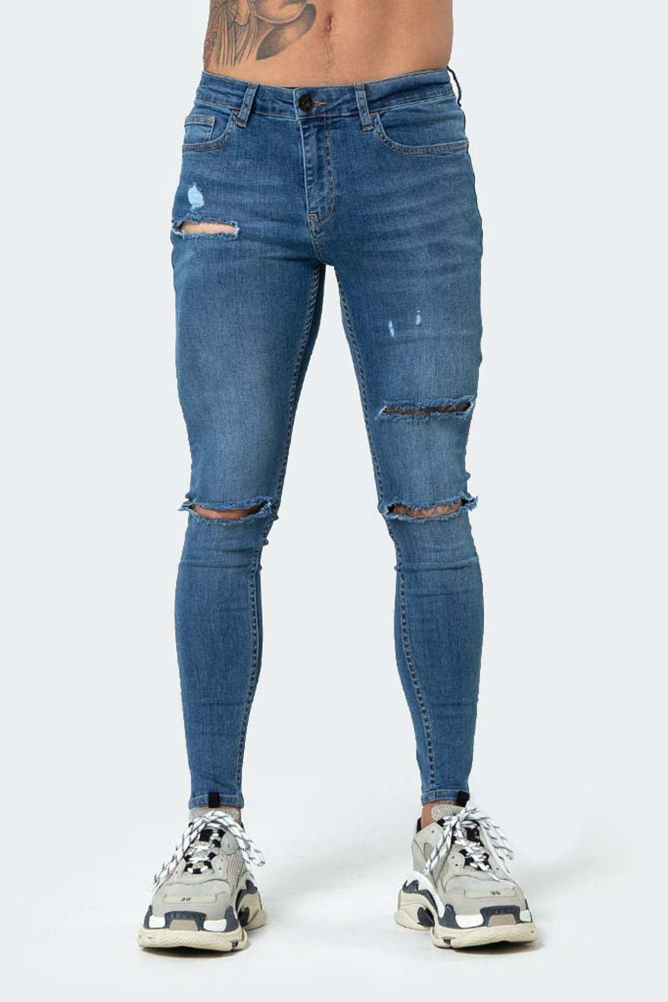 SPRAY ON JEAN DESTROYED - DARK BLUE