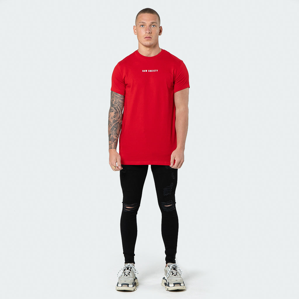 NEW Signature - Red Short Sleeve T shirt - Raw Society