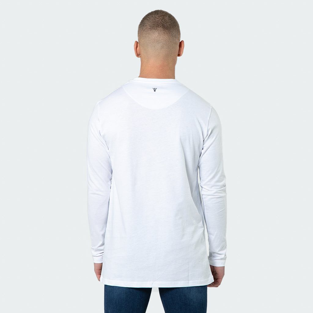NEW Signature - White Long Sleeve T shirt - Raw Society