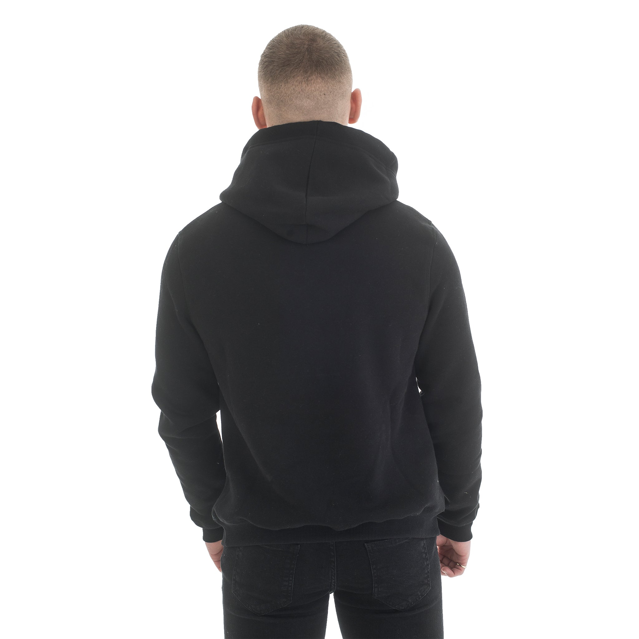 Black Hoodie - Basic Emboss Collection - Raw Society