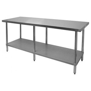 18-Gauge 430 Stainless Steel Commercial Work Table with Under-shelf - IcySkyy