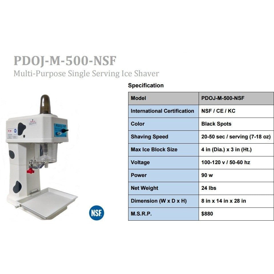 Shaved Ice Machine - PDOJ-M-500-NSF Ice Shaver - IcySkyy