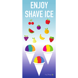 Poster - Enjoy Shave Ice (Vertical style) - IcySkyy