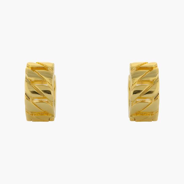 Bold Link Huggie Earrings
