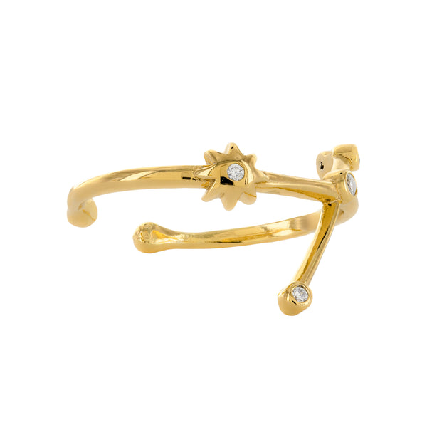 Aries Adjustable Zodiac Ring