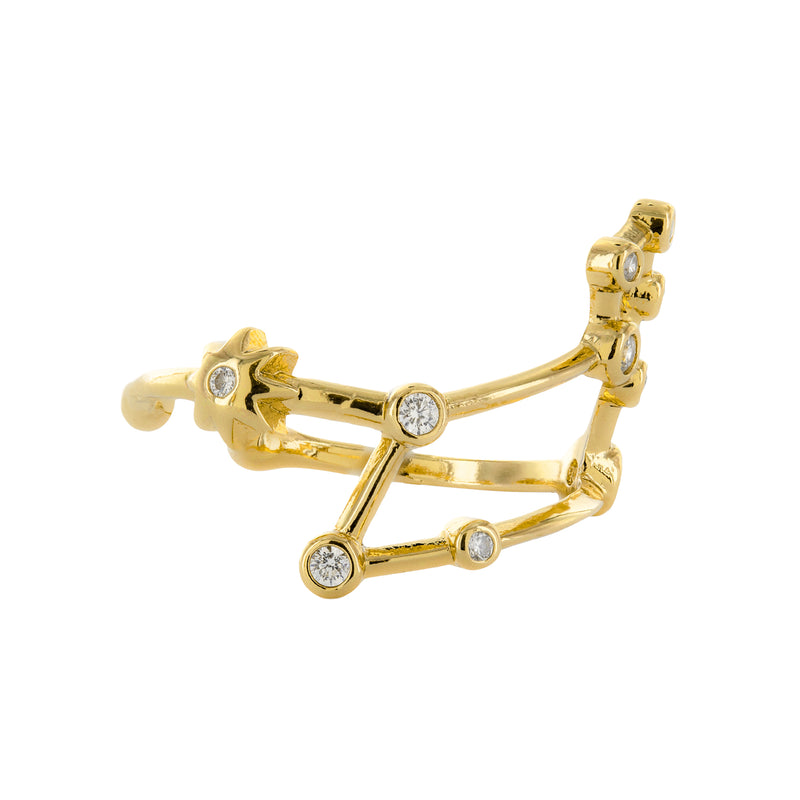 Leo Adjustable Zodiac Ring