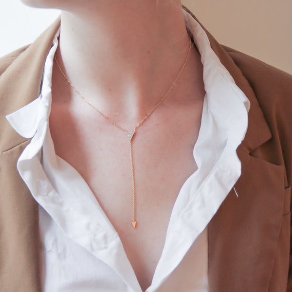 Astrid Gold Lariat Necklace