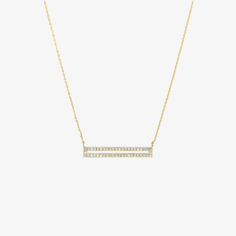 Joan Rectangle Pavé Necklace