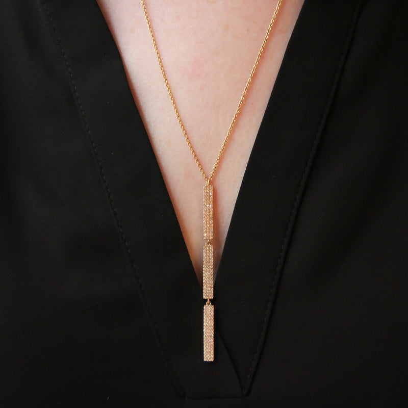 Teresa Tri-Stack Bar Necklace