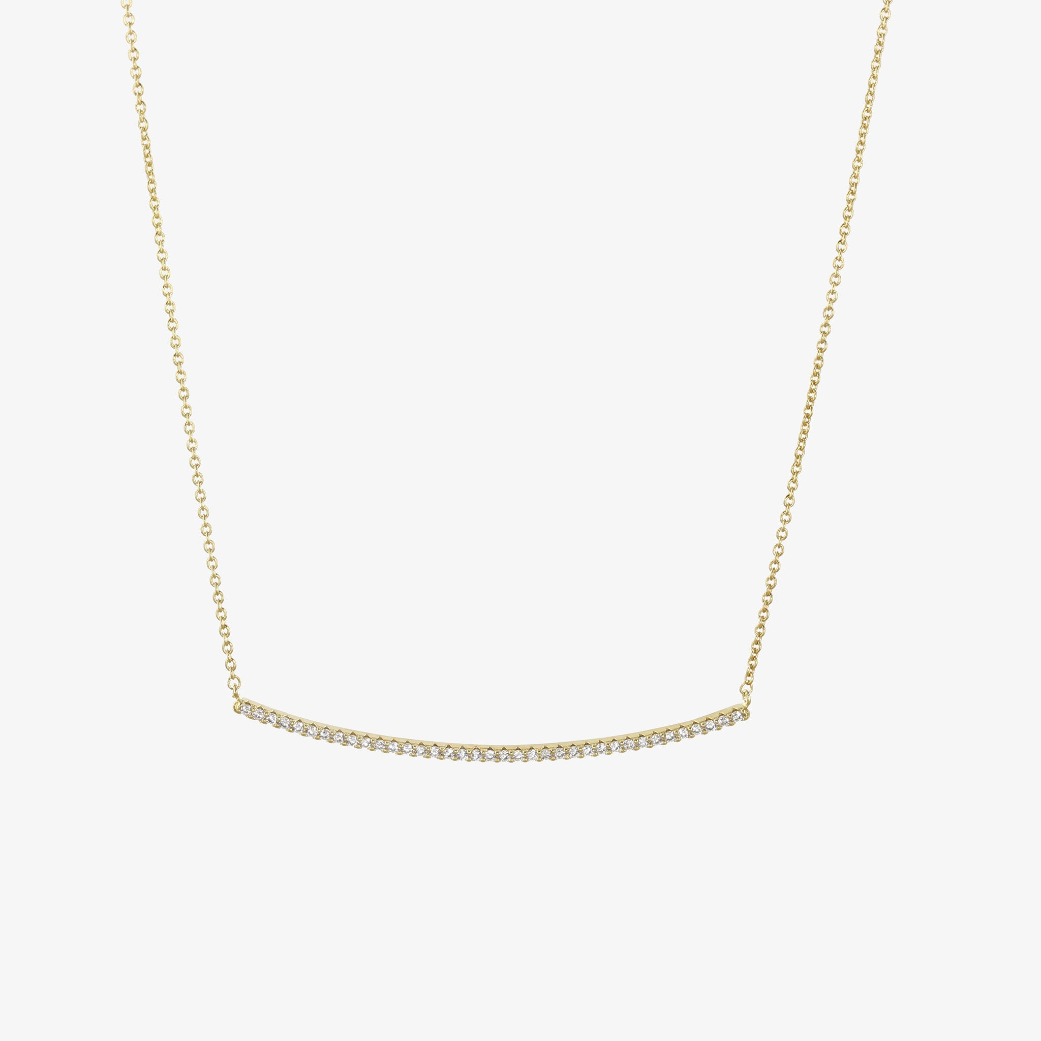 diamond h white linear gold in bar i pendant necklace si