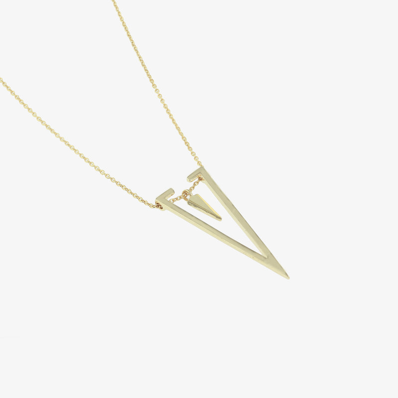 Astrid Double Triangle Pendant