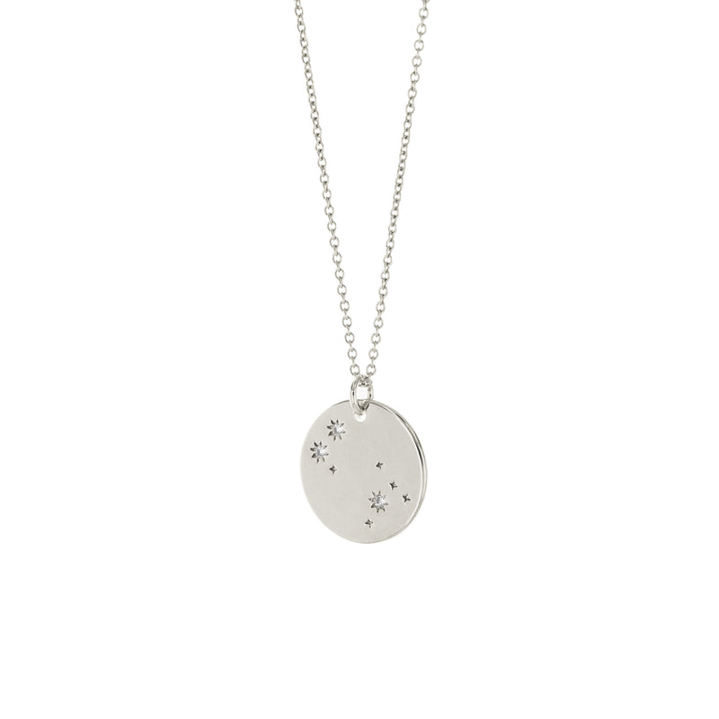 Sterling Silver Zodiac Constellation Pendant Necklace