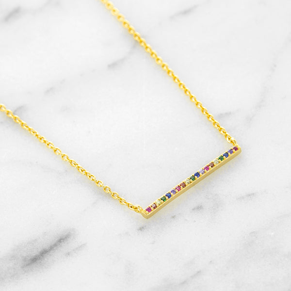 Iris Bar Necklace