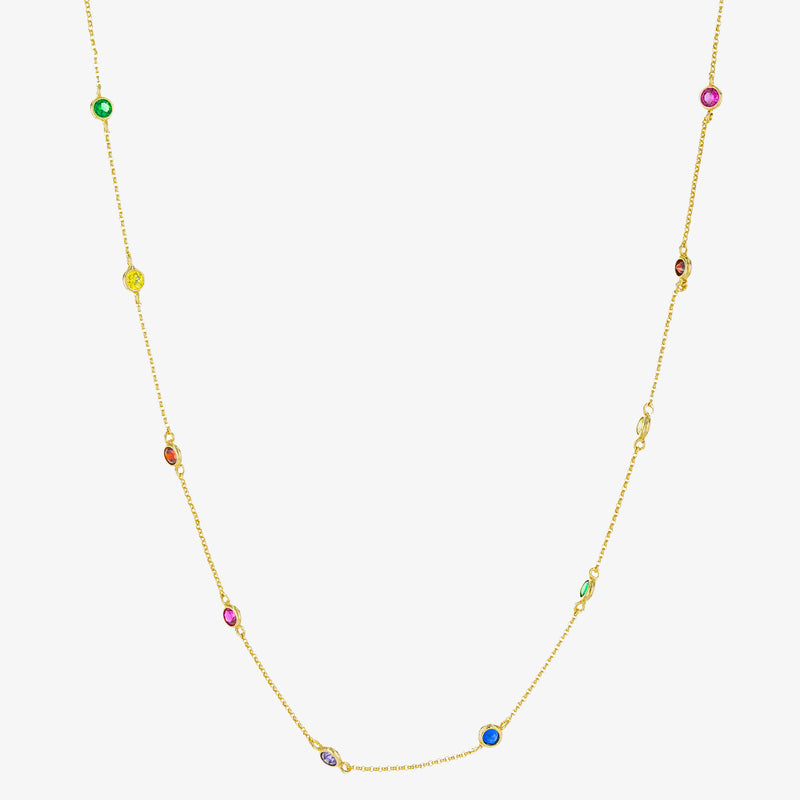 Iris Station Necklace