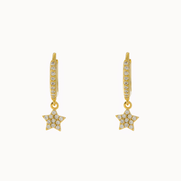 Lulana Star Huggie Earrings