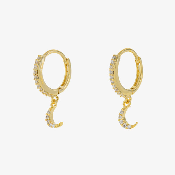 Lulana Moon Huggie Earrings