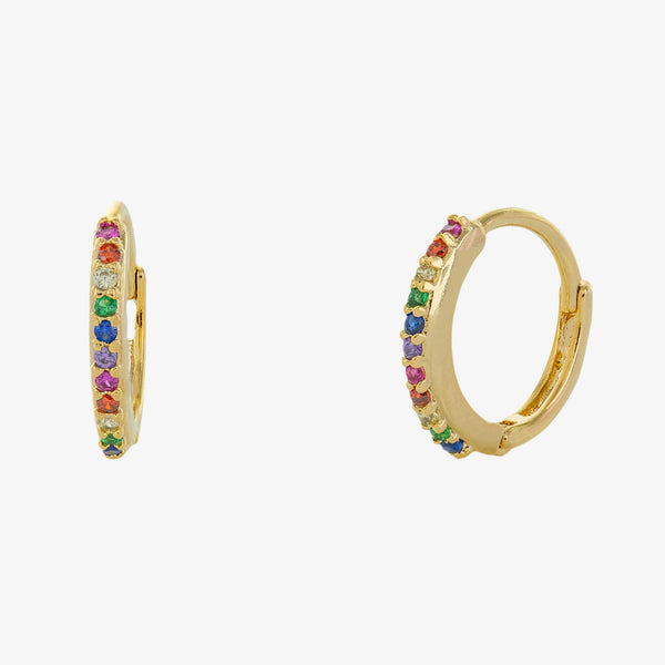 IRIS HUGGIE HOOP EARRINGS