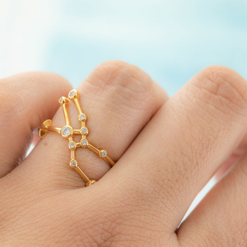Taurus Adjustable Zodiac Ring