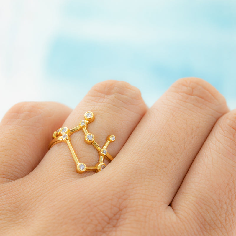 Gemini Adjustable Zodiac Ring