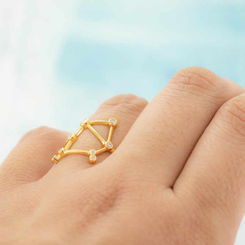 Libra Adjustable Zodiac Ring