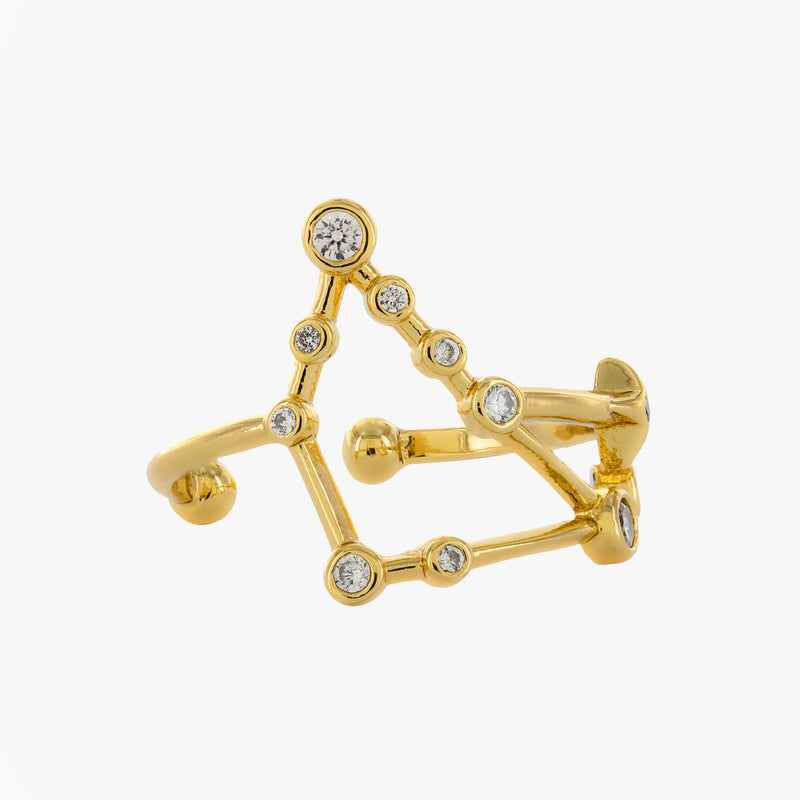 Capricorn Adjustable Zodiac Ring