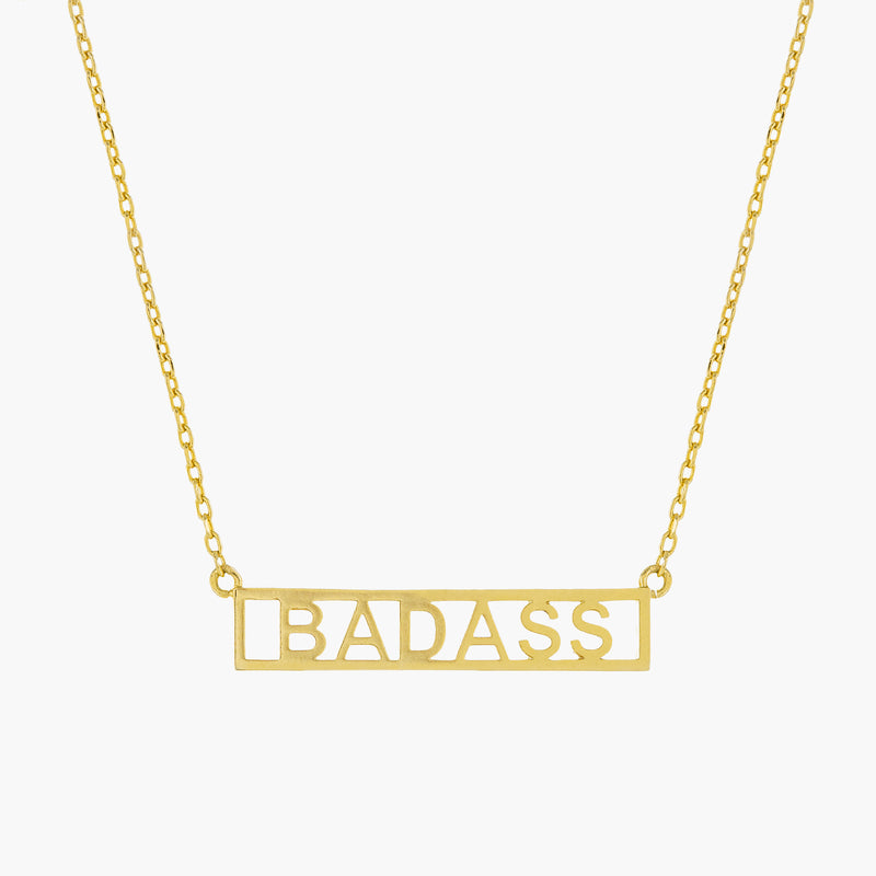 BADASS PLATE NECKLACE