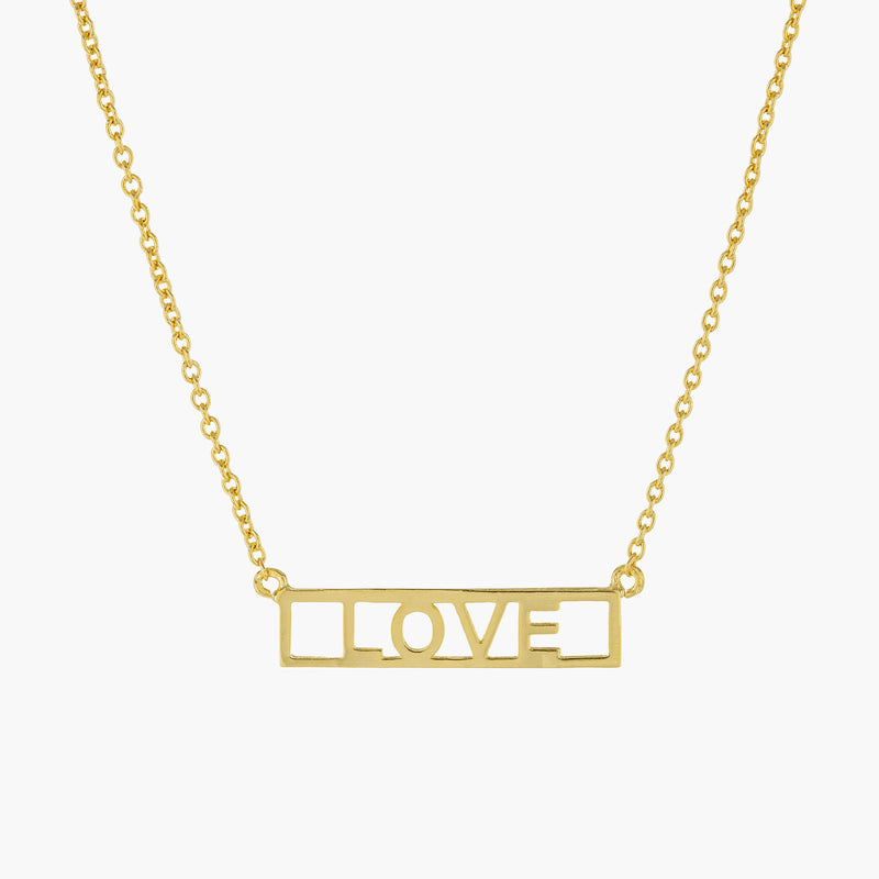 LOVE PLATE NECKLACE