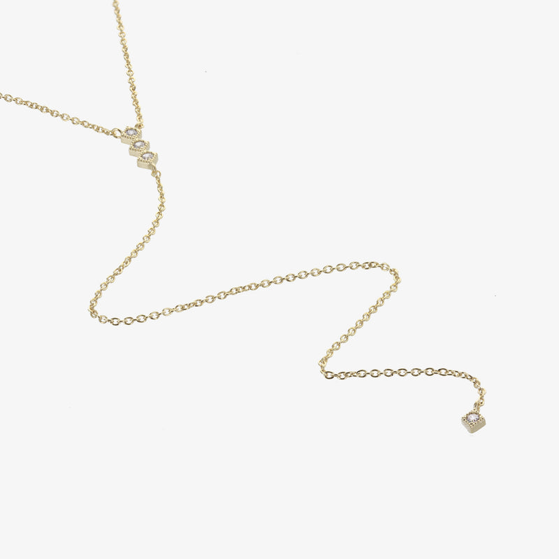 Gold Aries Lariat Necklace