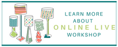 Learn more about online live lampshade making workshop with 3Chooks