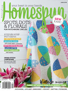 Homespun Magazine June 2018 cover