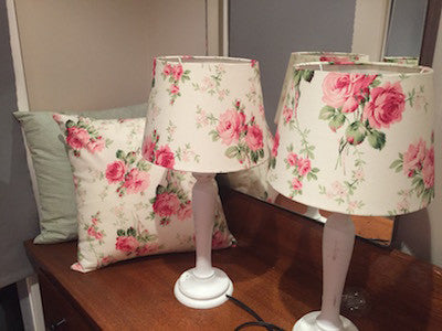 Table lamp, classic floral, Maddie Moo Creations, 3Chooks lampshade making supplies