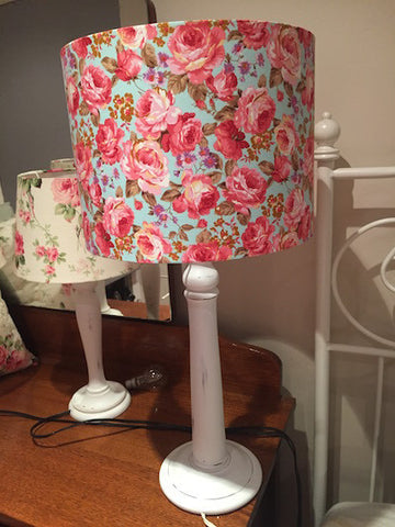 Table lamp, modern floral, Maddie Moo Creations, 3Chooks lampshade making supplies