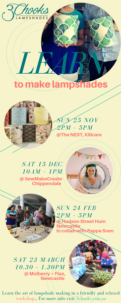 Lampshade making workshops Sydney Central Coast and Newcastle