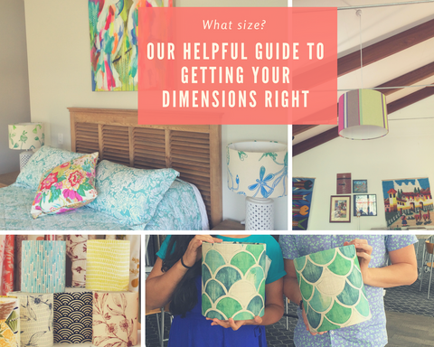 How big should a lampshade be? A helpful guide to get your lamp dimensions right.