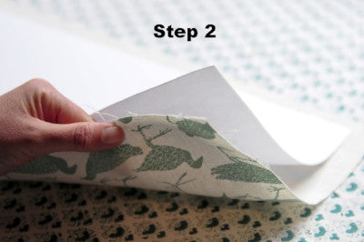 how to use lampshade paper step 2