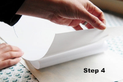 How to use lampshade paper step 4