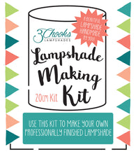 Lampshade Making Kit 20cm Diameter 3Chooks