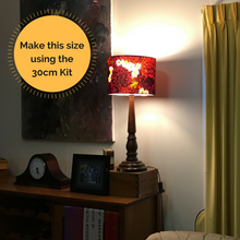 30cm drum lampshade kit using styrene for lampshades