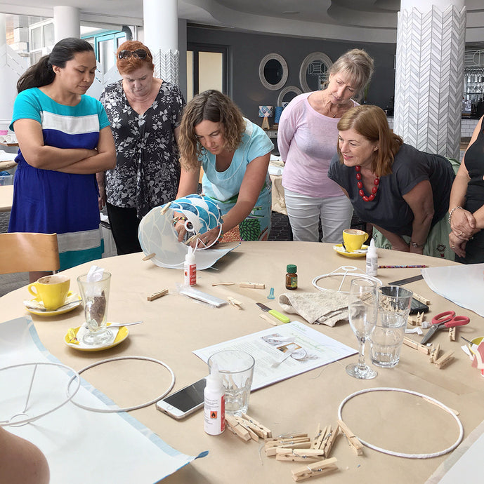 3Chooks lampshade making workshop learn how to make lamp shades