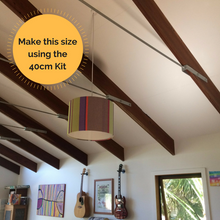 Use the 40cm lampshade kit to make this drum lampshade