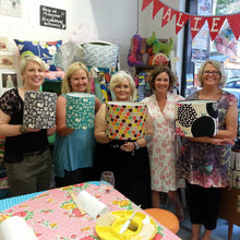 3Chooks lampshade making workshop at Alie Jane learn how to make lamp shades