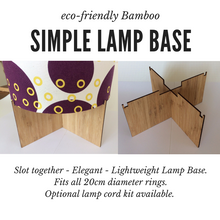 Simple Bamboo Slot Together Lamp Base