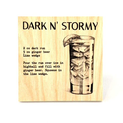 Coaster - Cocktail - Dark N' Stormy