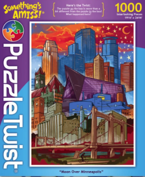 Jigsaw Puzzle - Moon Over Minneapolis