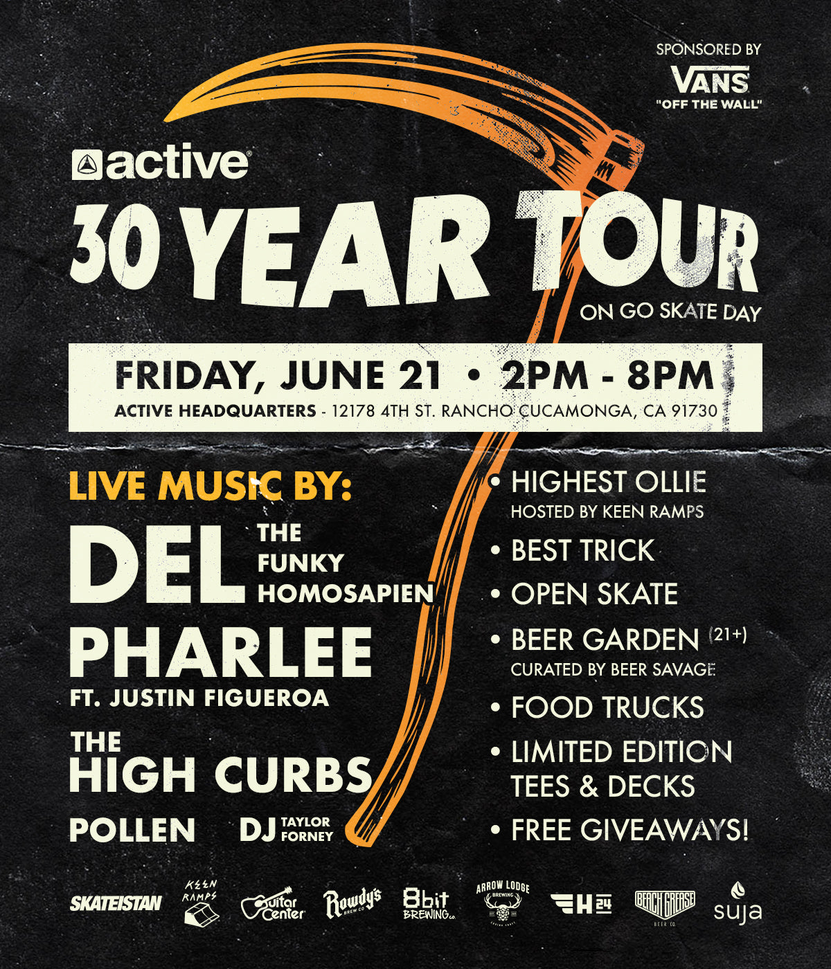 active ride shop go skate day flyer