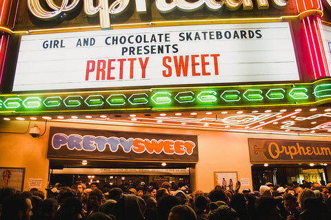 girl and chocolate skateboards presents pretty sweet