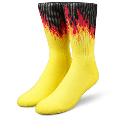 Womens Flames Crew Socks