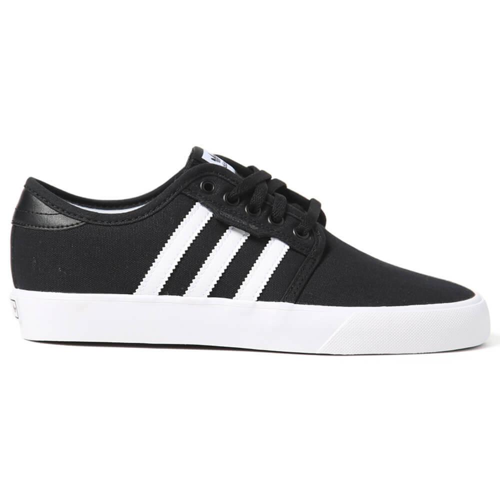 Adidas Seeley J Youth Shoe Youth Adidas Seeley J Shoe in white & black. Performance skate shoes from Adidas. Classic 3 stripe design & an extra grippy bottom. Streetwear style meets skateboarding in the canvas shoe. Adidas logos throughout. Cop a pair and hit the skatepark, what are you waiting for?. Adidas Seeley J Youth Shoe.