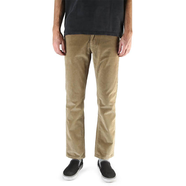 Front view of the Men's Active Excursion Corduroy pant in tan colorway