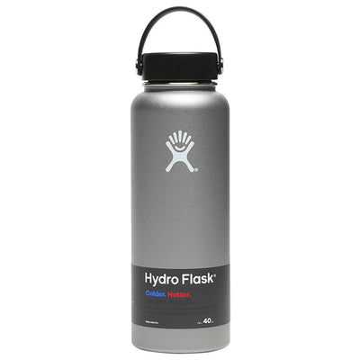 Hydroflask water bottle 40 OZ wide mouth in grey